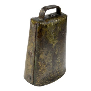 Antique American Primitive Cow Bell For Sale