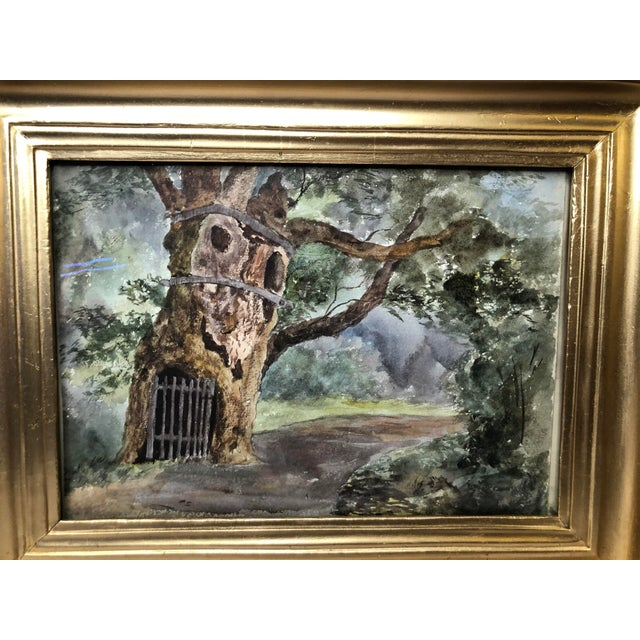 1891 Impressionist English Landscape Watercolor Painting, Framed For Sale - Image 4 of 10