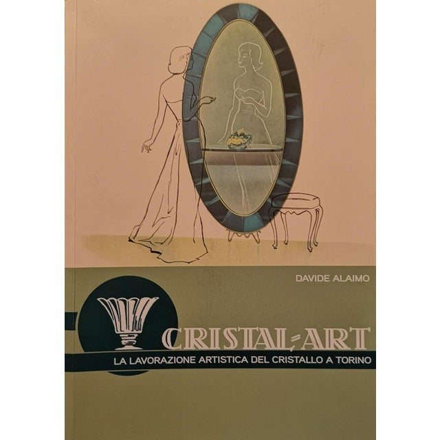 Mid 20th Century Vintage Mid Century Oval Mirror by Cristal Art For Sale - Image 5 of 6