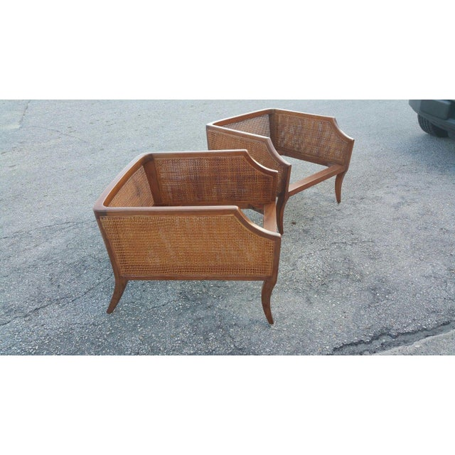 Tan 1950s Danish Modern Teak Saber Leg Low Slung Lounge Chairs - a Pair For Sale - Image 8 of 11
