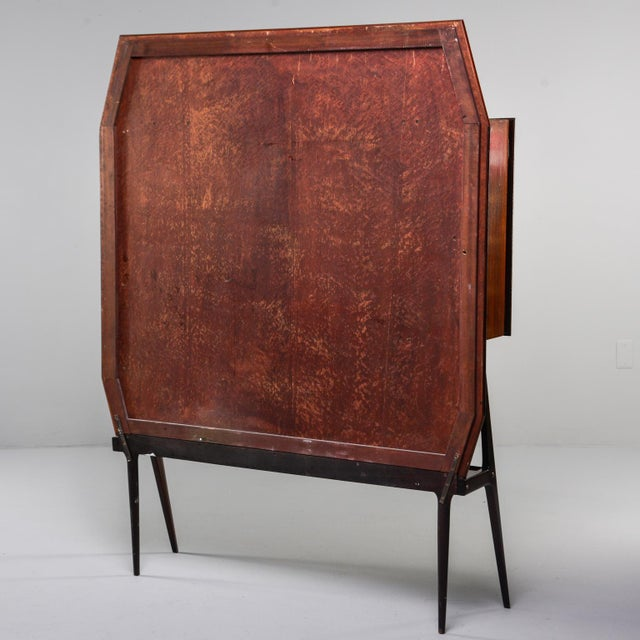 Mid Century Italian Free Standing Rosewood Wall Unit With Marquetry For Sale - Image 12 of 13