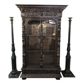 Mid 19th Century Antique French Renaissance Style Bookcase For Sale