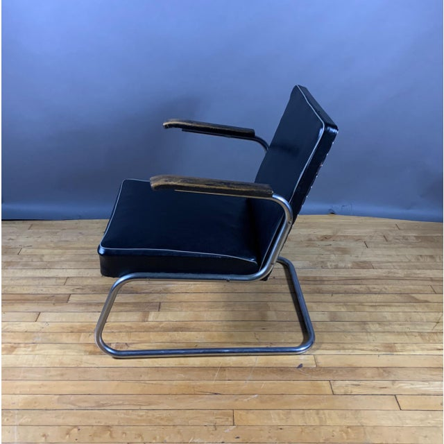 Metal 1950s Drabert Germany Cantilever Armchair For Sale - Image 7 of 12