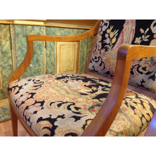 Pair of Italian Neoclassic Armchairs For Sale - Image 9 of 13