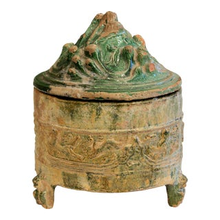 Antique Chinese Hill Jar Han Dynasty Pottery Jar For Sale
