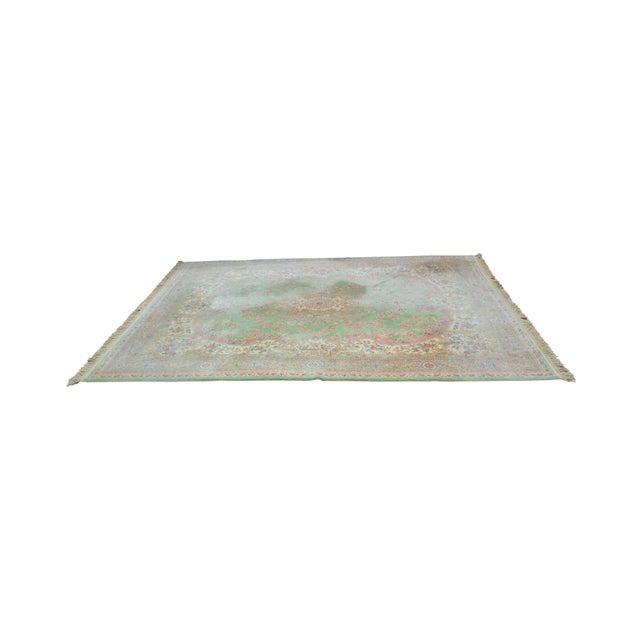 "Karastan Soft Green Kirman 8'7"" X 12'9"" Room Size Rug For Sale - Image 12 of 12"