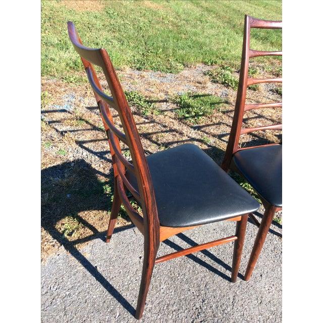 Niels Koefoed Rosewood & Teak Chairs - Set of 6 - Image 4 of 10