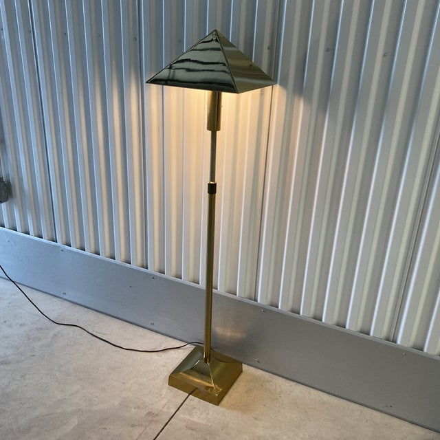 1970s Laurel Lamp Co Brass Plated Telescoping Floor Lamp For Sale - Image 11 of 13