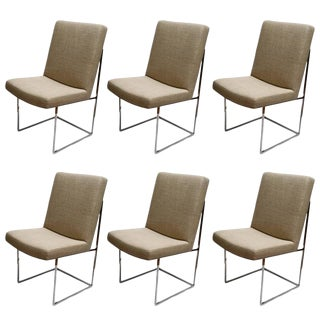 Set of Six Milo Baughman Dining Room Chairs For Sale