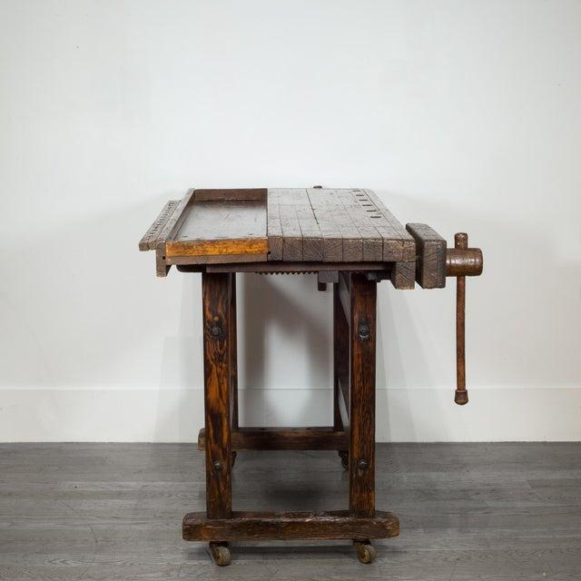 Black Walnut and Douglas Fir American Carpenter's Workbench C.1900 For Sale - Image 4 of 11
