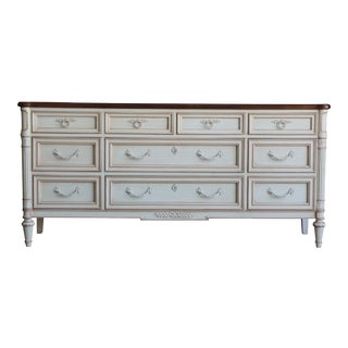 French Regency Heritage Lowboy Dresser For Sale