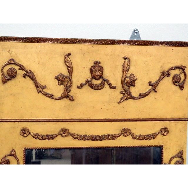 Neoclassical Style Paint Decorated Console & Mirror For Sale - Image 9 of 13