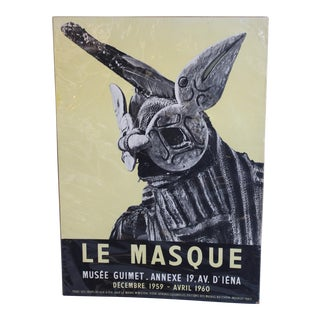 Vintage Musee Guimet French Poster For Sale