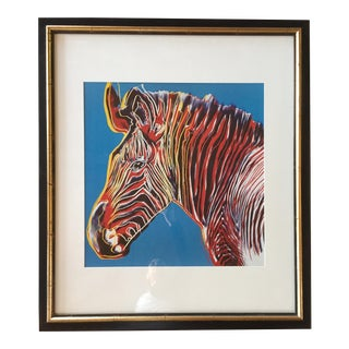 Pop Art Style Zebra Print