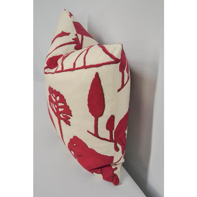 Contemporary Clarence House Cotton Elephant Pillow For Sale - Image 3 of 5