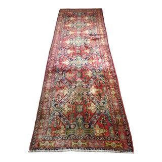 """1950s Vintage Seychour Persian Rug - 3' 9"""" X 10' 6"""" For Sale"""