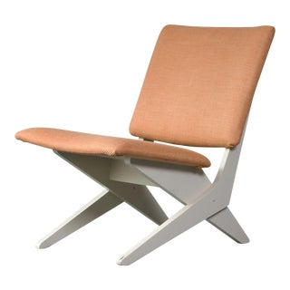 Upholstered chair by Peter van Grunsven. 1958. For Sale