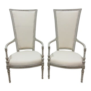 Gustavian Style Arm Chairs - a Pair For Sale