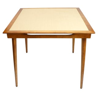 Mid Century Modern Folding Game Table For Sale