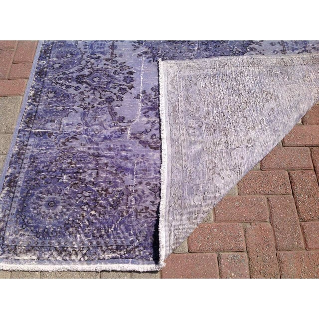 Over-Dyed Turkish Rug - 5′1″ × 8′1″ - Image 7 of 7