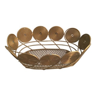 Decorative Wire Serving Basket For Sale