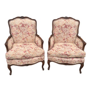 Carved French Begeres a Pair Circa 1920 For Sale