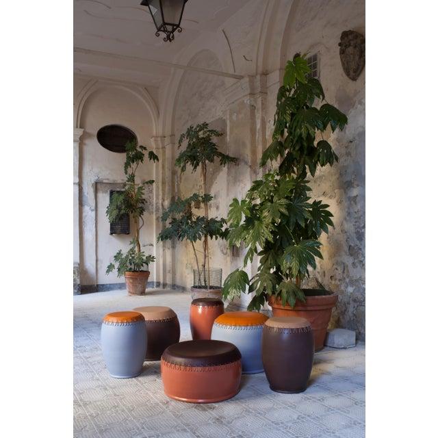 Nestor Perkal Bombo' Leather Side Table by Nestor Perkal For Sale - Image 4 of 8