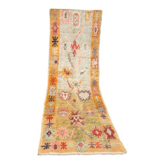 'Oralie' Turkish Oushak Runner - 3′ × 10′9″ For Sale