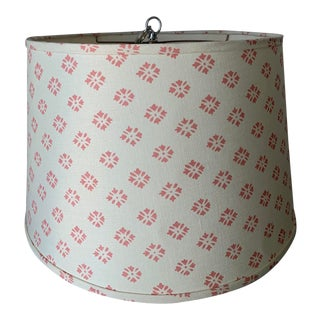 Custom Kathryn Ireland Fabric Pendant Light For Sale