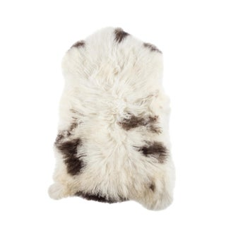 "Contemporary Natural Wool Sheepskin Pelt - 2'2""x3'5"""
