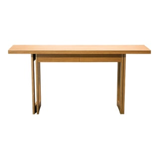Christian Liaigre Modern Convertible Console Table with Drawers For Sale