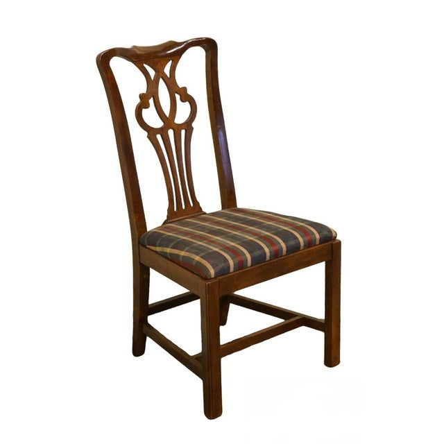 Late 20th Century Drexel Heritage Chippendale Style Dining Chair For Sale - Image 12 of 12