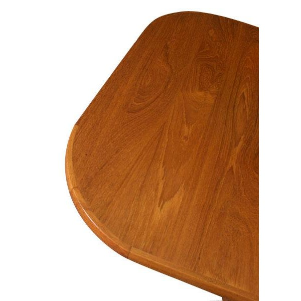 Mid Century Modern Danish Teak Rounded Edge Table - Image 4 of 5