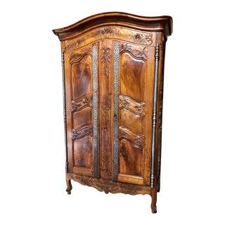 1760s Louis XV Walnut Armoire For Sale