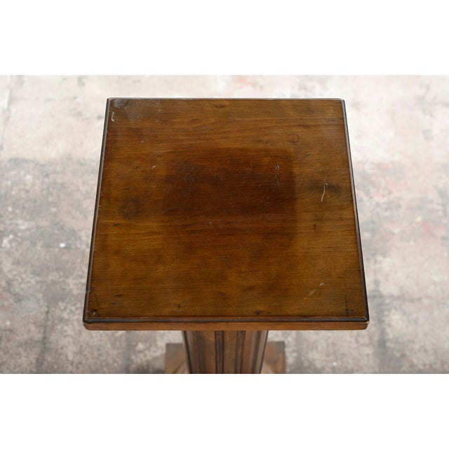 Antique Carved Colonial Walnut Pillar Pedestal - Image 6 of 10