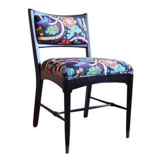 1950s Vintage Oak Chair With Josef Frank Fabric For Sale