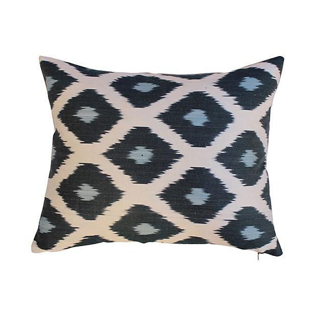 Silk Ikat Mod Pillows - A Pair For Sale - Image 4 of 5