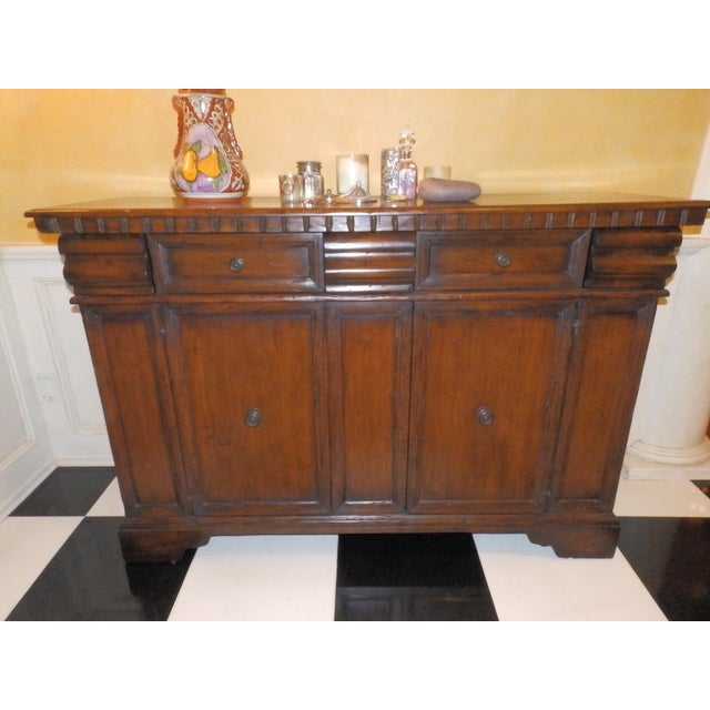 19th Century Spanish Colonial Solid Wood Sideboard For Sale - Image 4 of 7