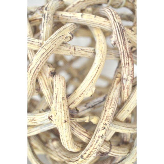 Natural Windsor Knot Balls in Dried Wisteria Stems - a Pair For Sale - Image 9 of 10