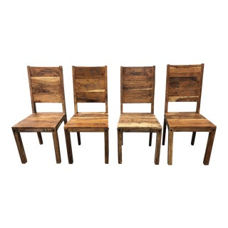 Hd Buttercup Primitive Wood Dining Chairs - Set of 4