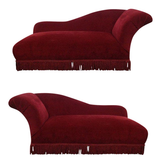 Two French Art Deco Chaise Lounges For Sale
