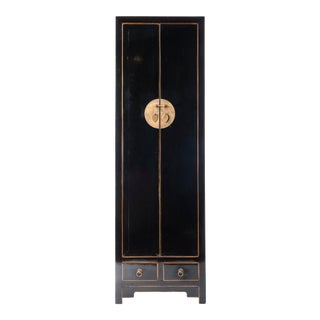 Black Chelsea Tall Cabinet For Sale