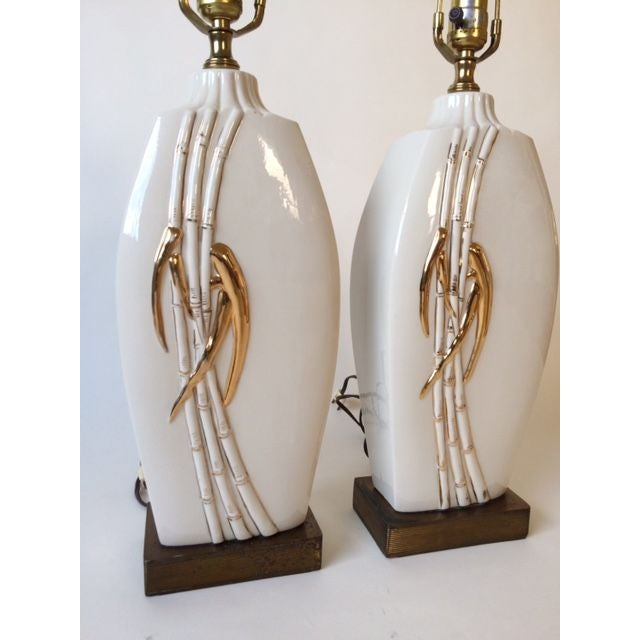 Vintage Faux Bamboo Table Lamps - A Pair - Image 3 of 8