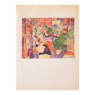 1948 André Derain, Original Period Parisian Landscape Lithograph For Sale