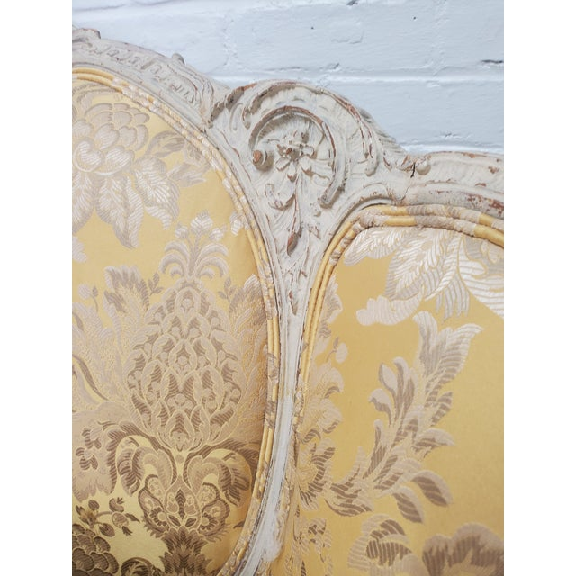 French 1930s Antique Victorian French Louis XV Style Couch For Sale - Image 3 of 13