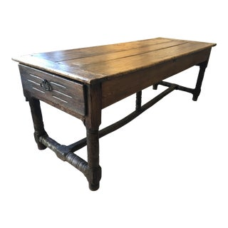 18th Century French Provincial Rustic Farm Table For Sale
