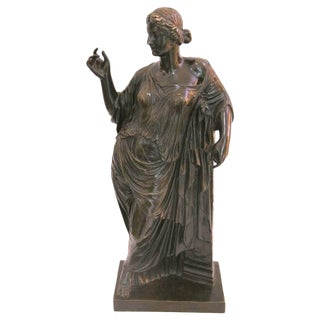 Grand Tour Bronze, Roman Woman, France, 19th Century by Susse Freres For Sale