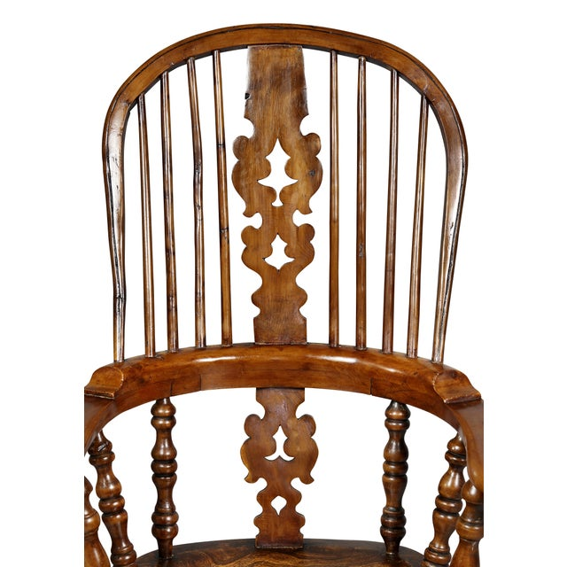 Set of Four Assembled Regency Yewwood Windsor Armchairs For Sale - Image 12 of 13
