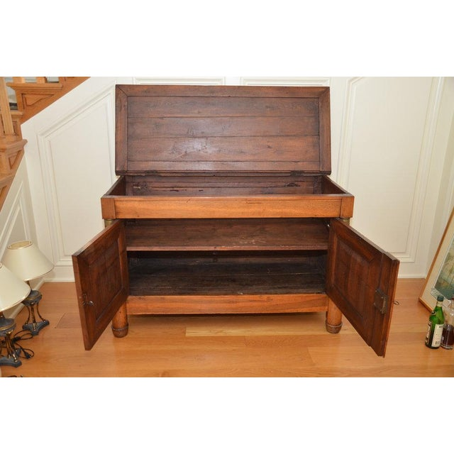 Antique French Lift Top Ice Chest Cabinet - Image 3 of 10