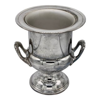 Mid-Century French Silver Plate Champagne Ice Bucket For Sale